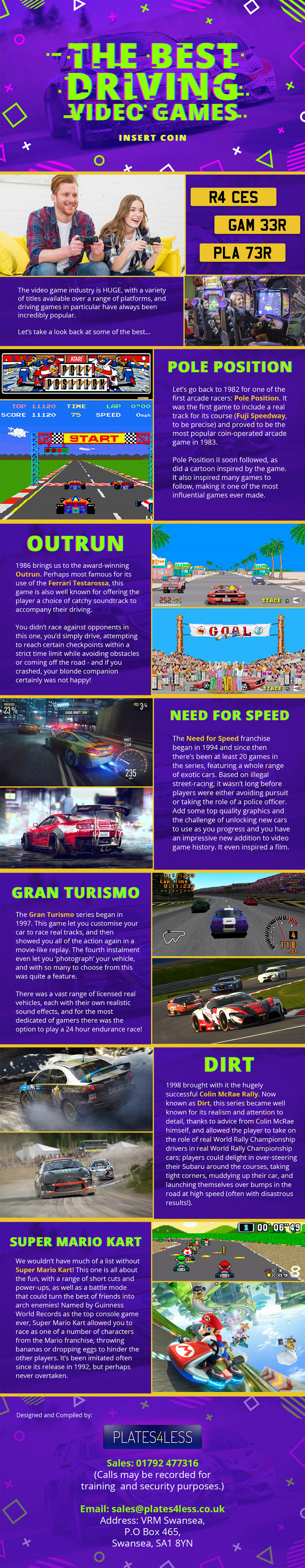The Best Driving Video Games Infographic