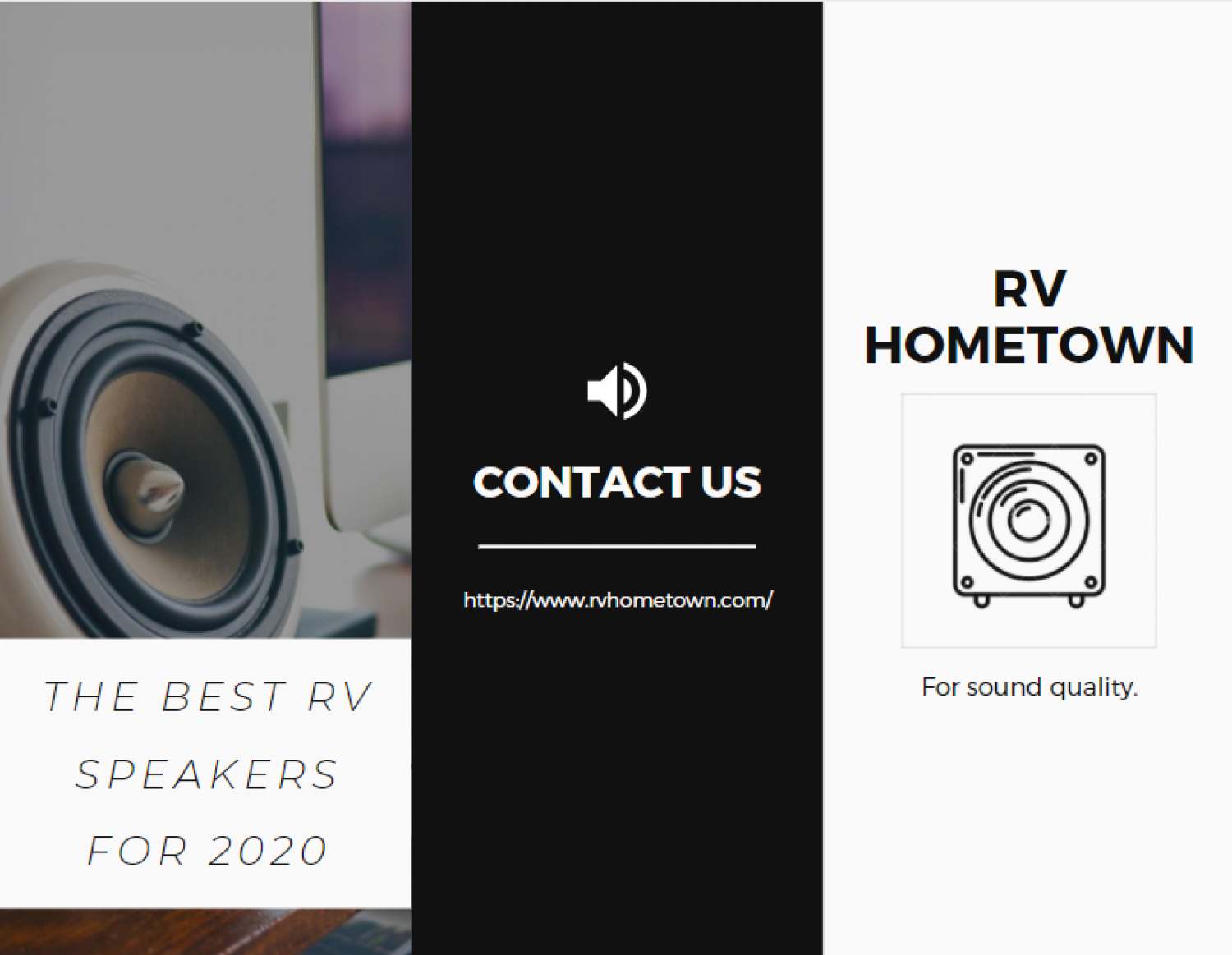 The Best RV Speakers for 2020 Infographic