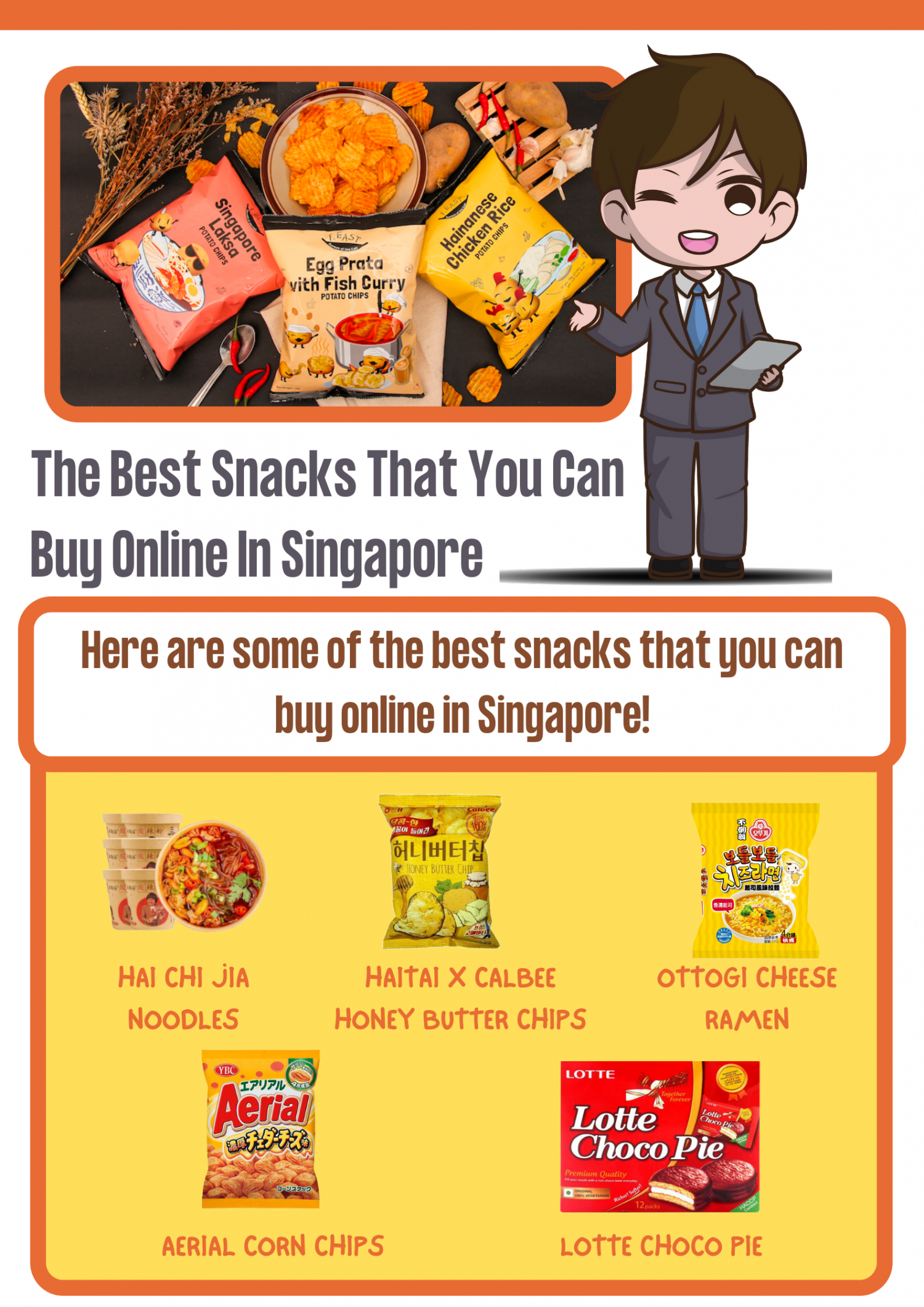 The Best Snacks That You Can Buy Online In Singapore Infographic
