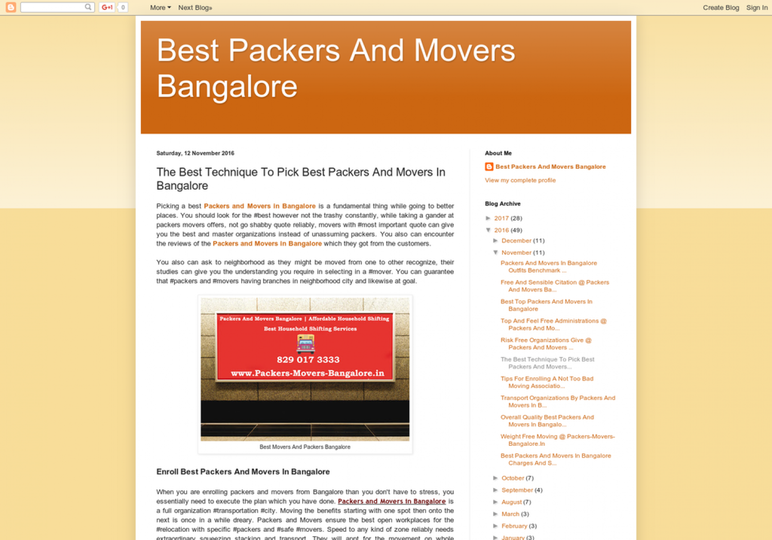 The Best Technique To Pick Best Packers And Movers In Bangalore Infographic