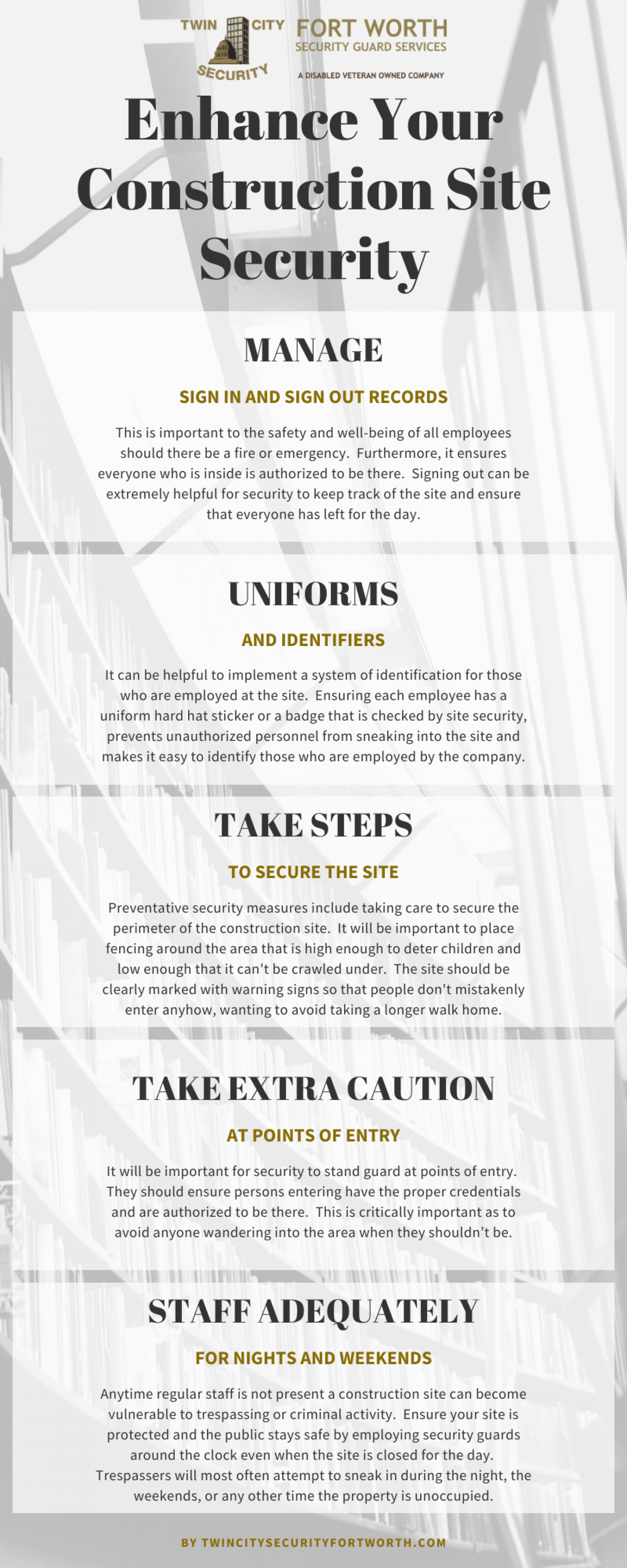 The Best Tips to Enhance Construction Site Security Infographic Infographic