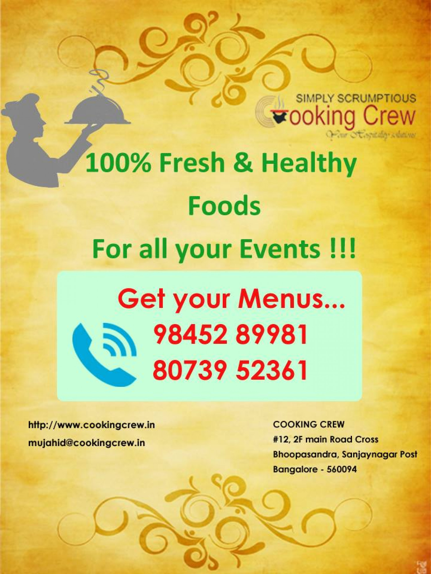 The Best Veg and Non veg Catering Services in Bangalore Infographic