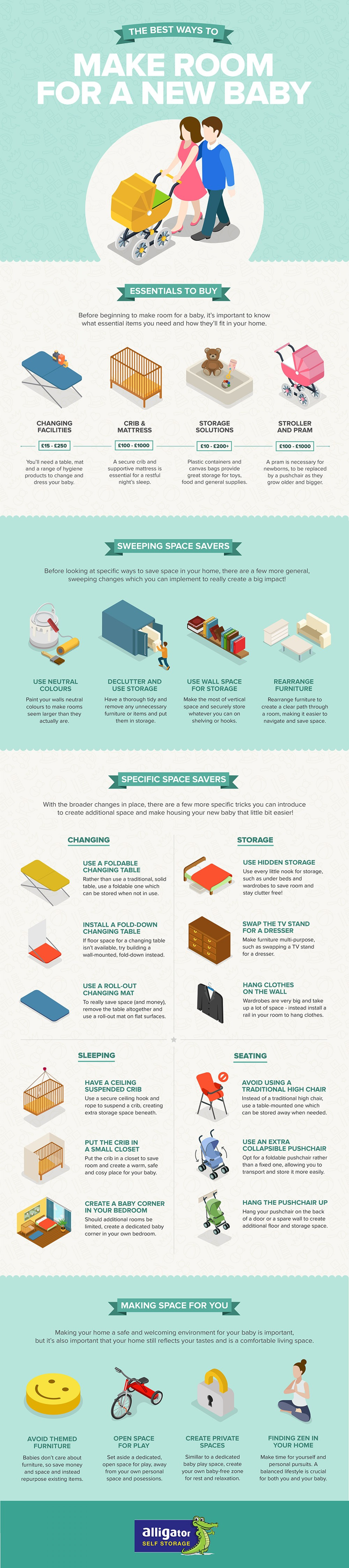 The Best Ways to Make Room for a New Baby Infographic