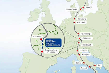 The Brenner Pass, Border Between Austria and Italy Infographic