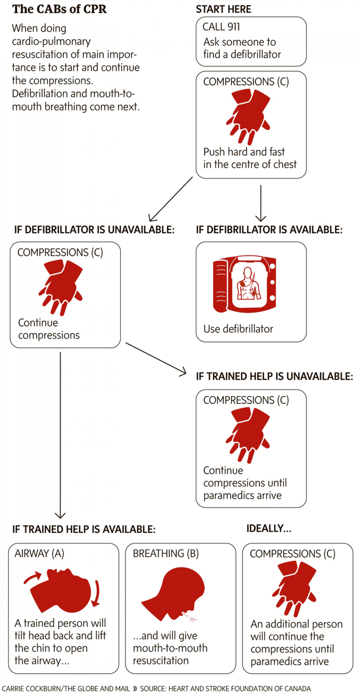 The CAB's of CPR Infographic
