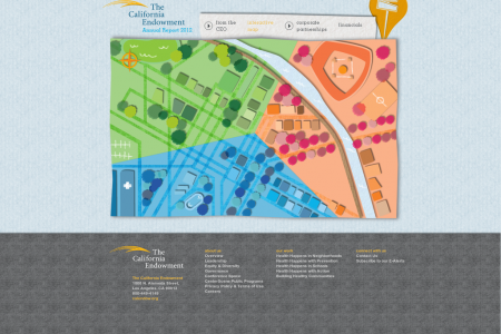 The California Endowment 2012 Annual Report Infographic