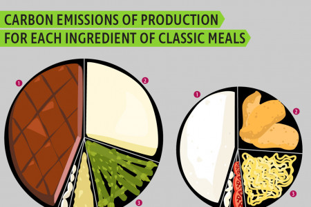 The Carbon Emissions of America's Meals Infographic