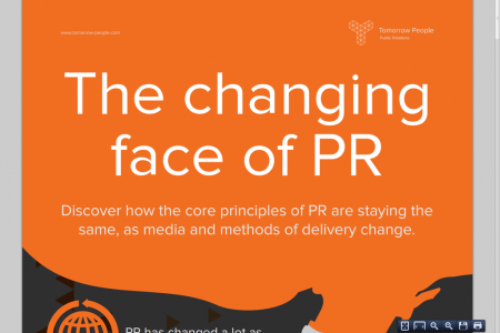 The Changing Face of PR Infographic