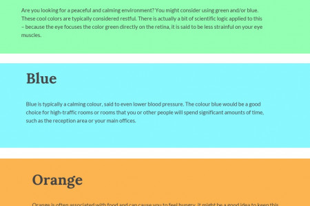 The colour of an office Infographic