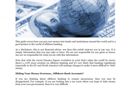 The Complete Guide to Offshore Banking by Bowman Offshore Bank Transfers Infographic
