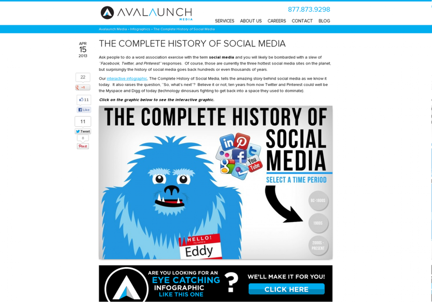 The Complete History of Social Media Infographic