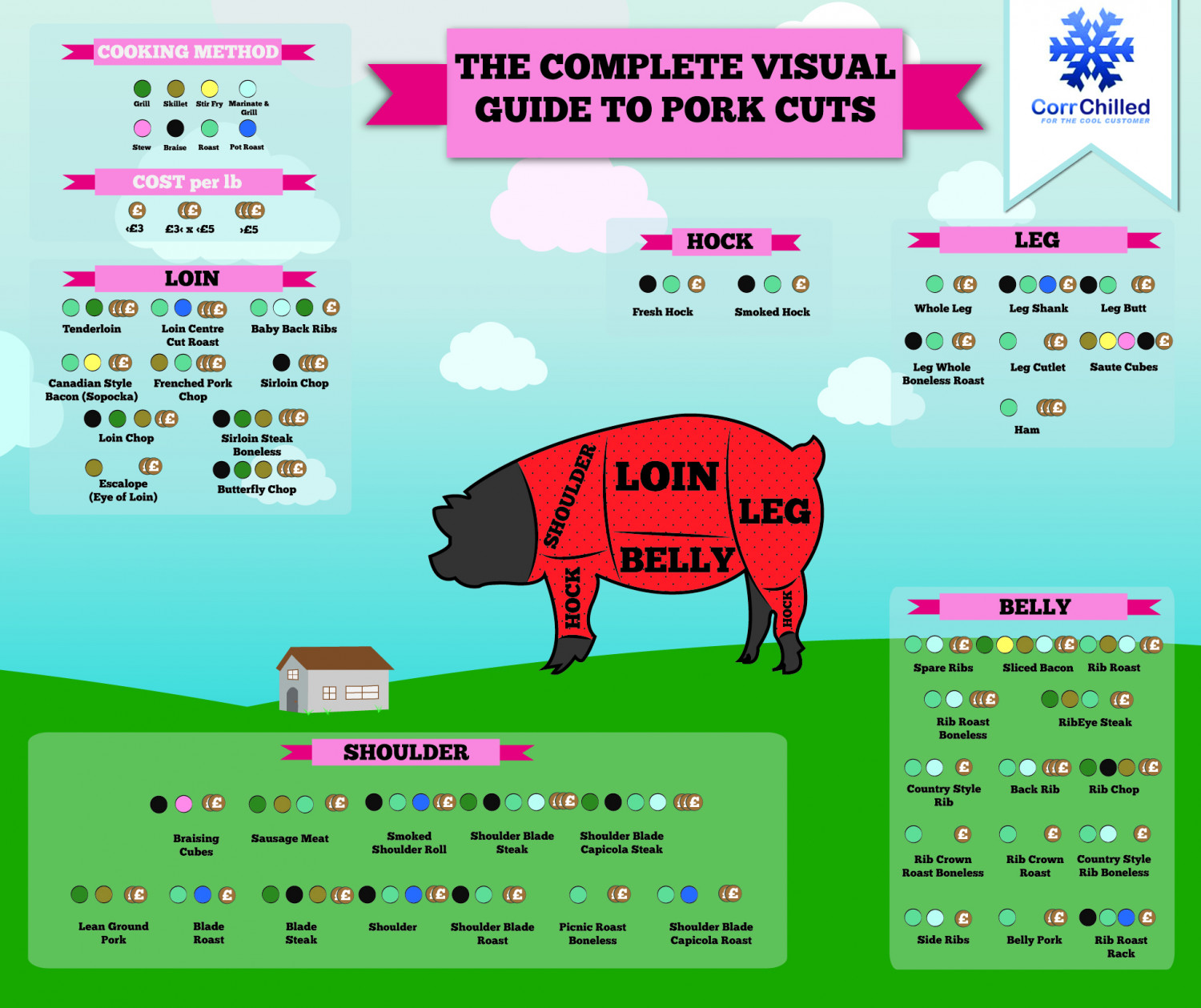 The Complete Visual Guide to Pork Cuts Infographic