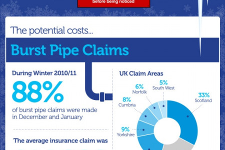The Cost of Burst Water Pipes Infographic