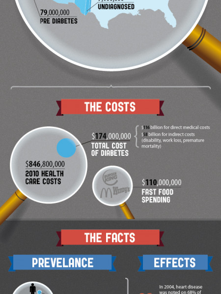 The Cost of Diabetes  Infographic