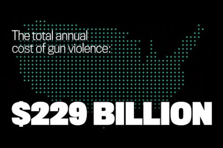 The Cost of Gun Violence Infographic