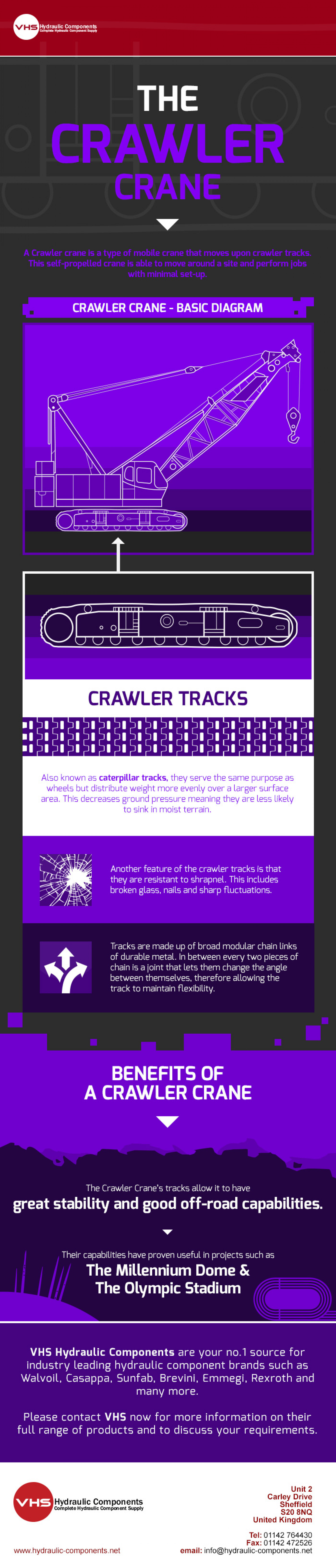 The Crawler Crane Infographic