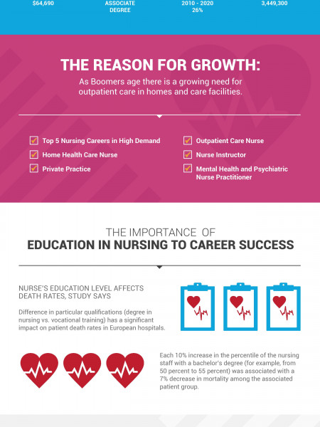 The Critical Value of a Nursing Education – Why Education for Nurses is Important  Infographic