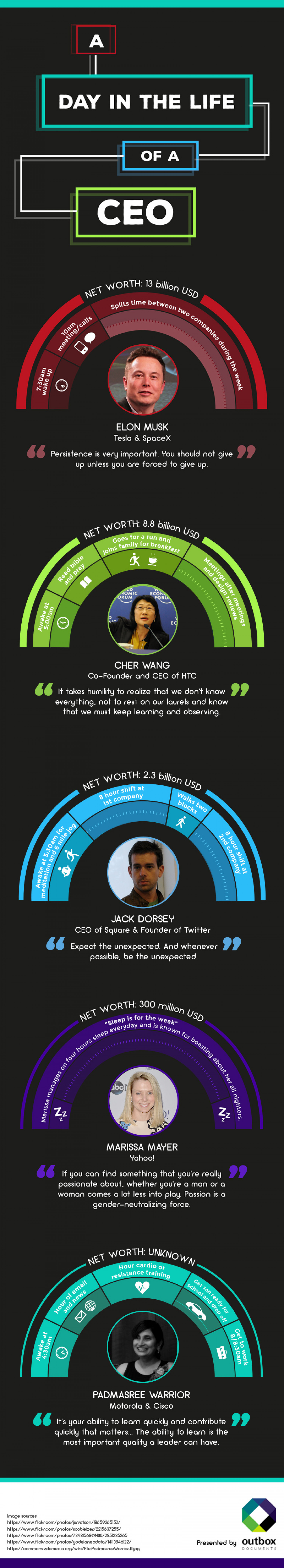 The Daily Routine of CEOs Infographic