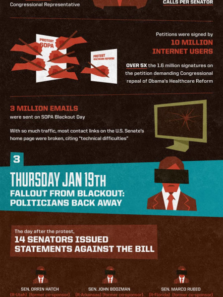 The Day the Internet Stood Still Infographic
