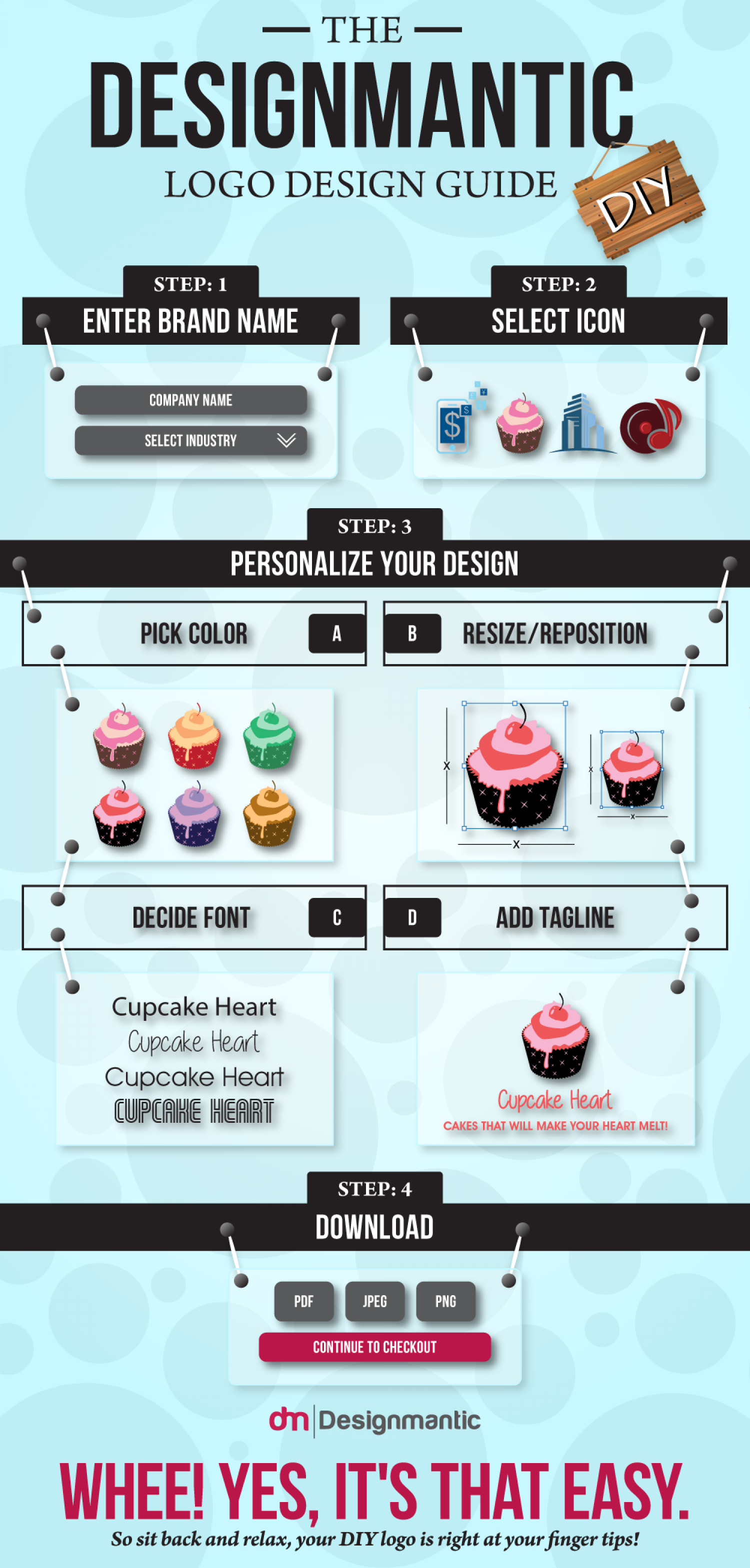The DesignMantic Logo Design Guide Infographic
