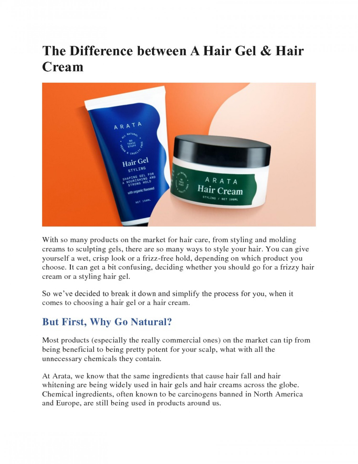 The Difference Between A Hair Gel & Hair Cream Infographic