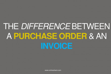 The Difference between a Purchase Order and an Invoice Infographic