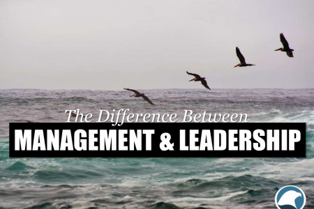 The Difference Between Management and Leadership Infographic