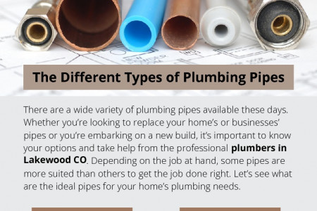 The Different Types of Plumbing Pipes Infographic