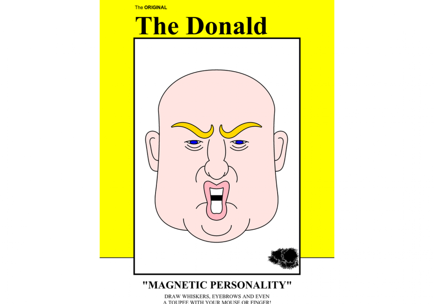 The Donald: A Retro Magnetic Hair Toy Infographic