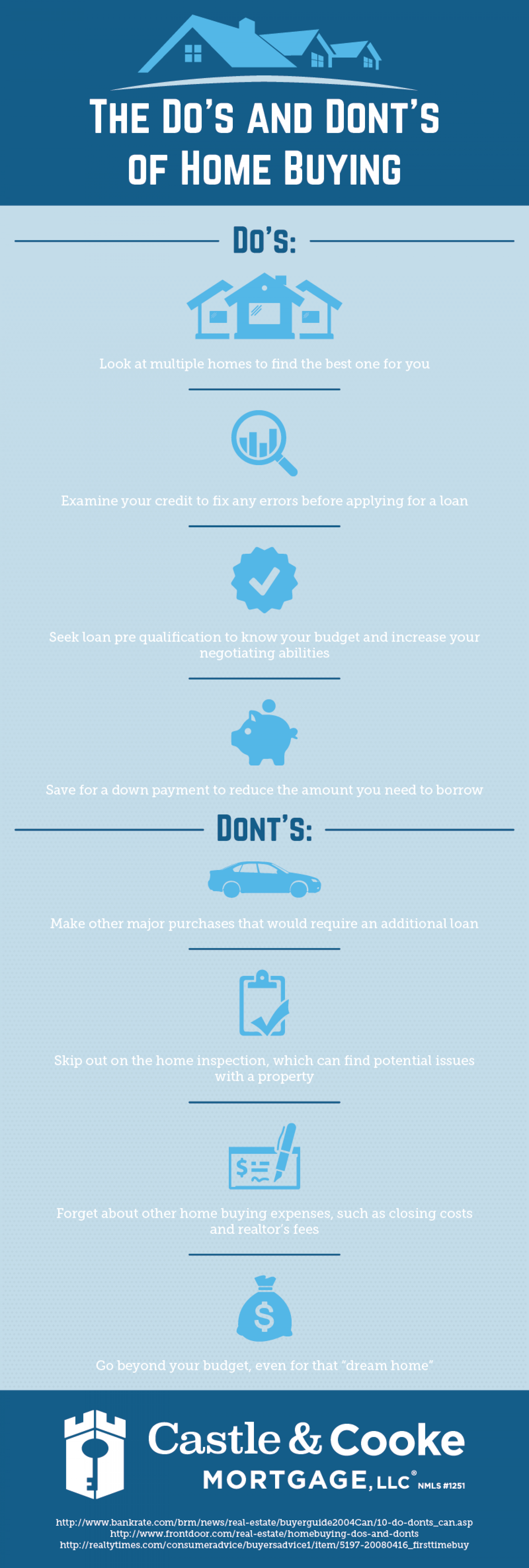 The Do's and Dont's of Home-Buying Infographic