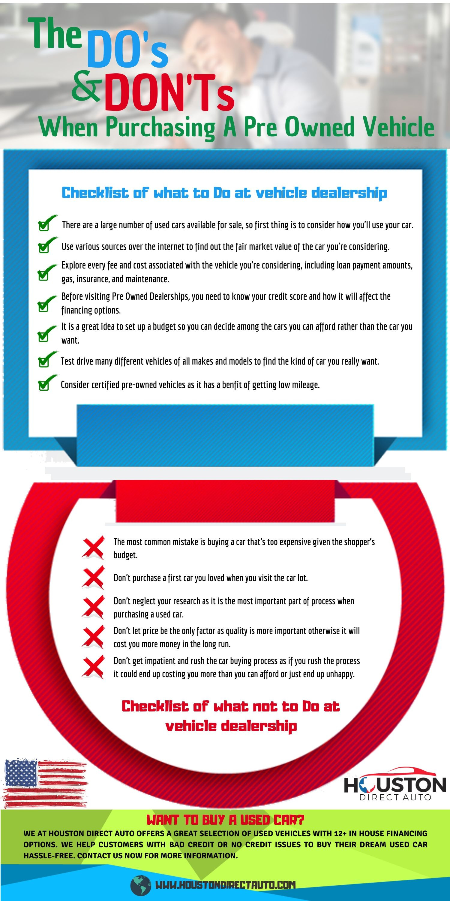 The Do's And Don'ts When Purchasing A Pre Owned Vehicle Infographic