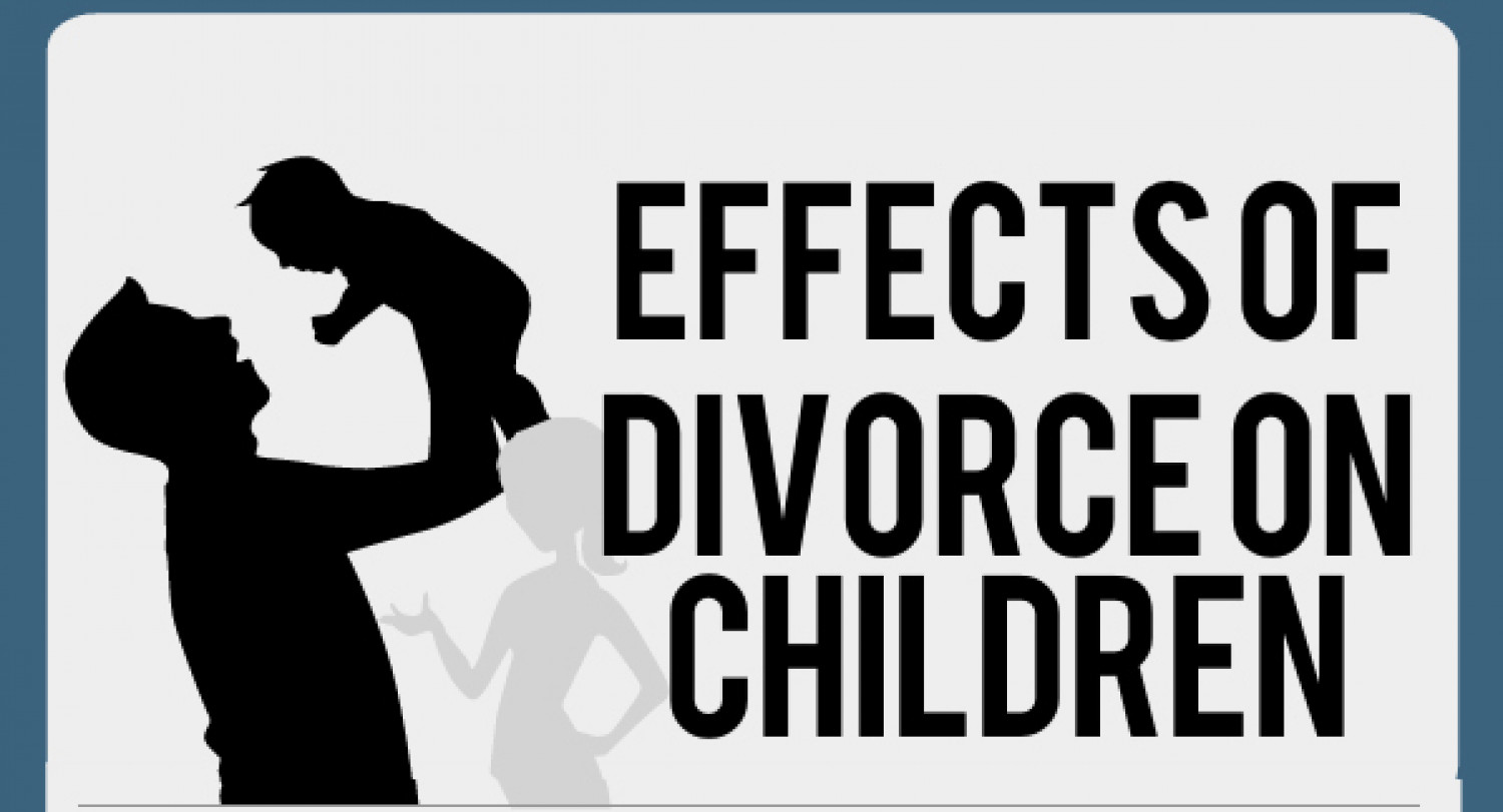 the effects of divorce on children ly the effects of divorce on children infographic