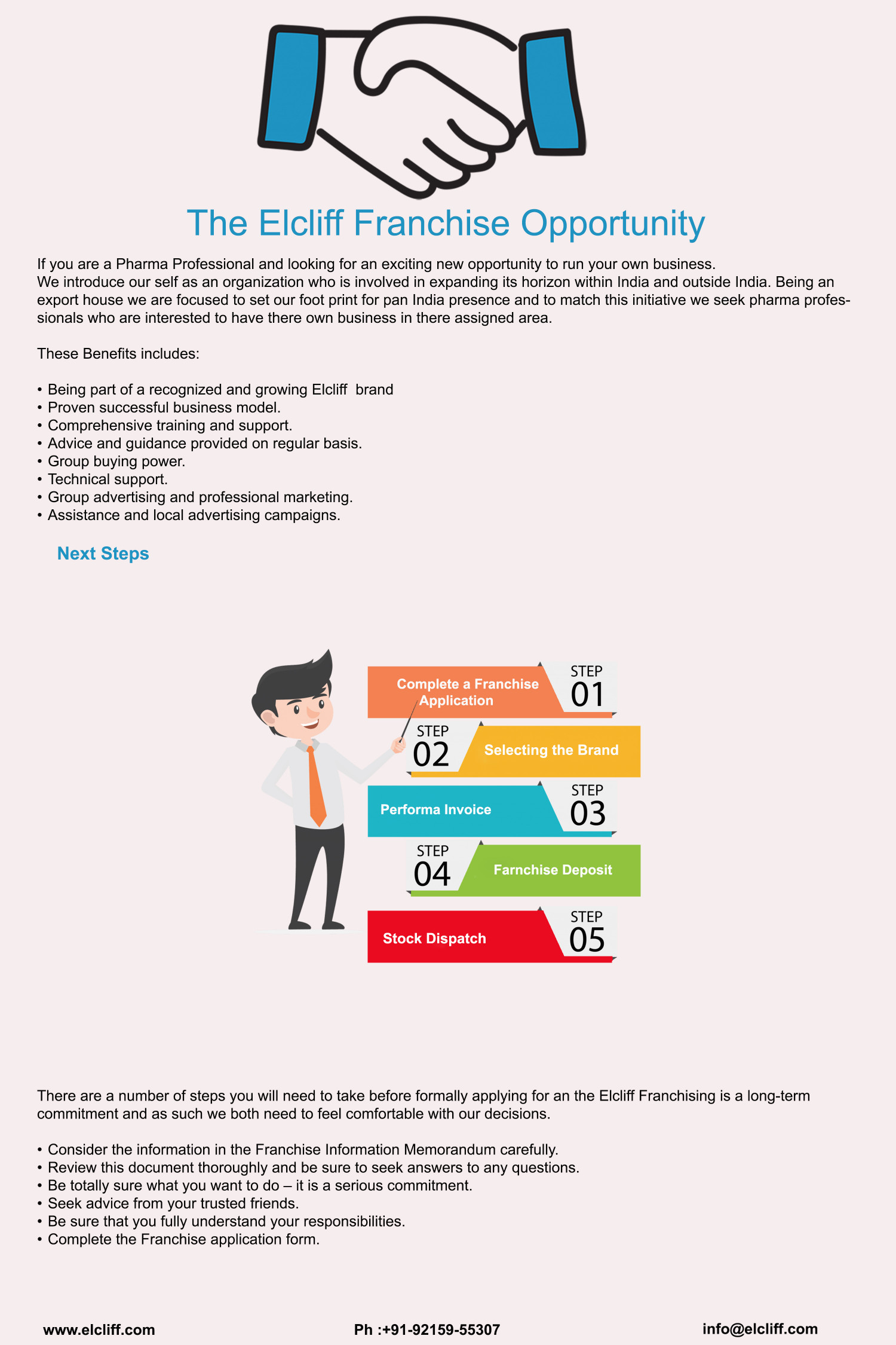 The Elcliff Pharma PCD Franchise Opportunity Infographic