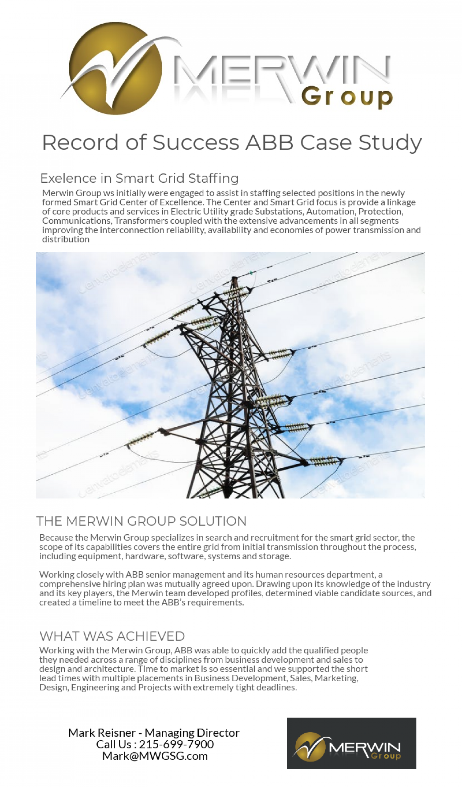 The Electrical Power Distribution System - Merwin Group Infographic