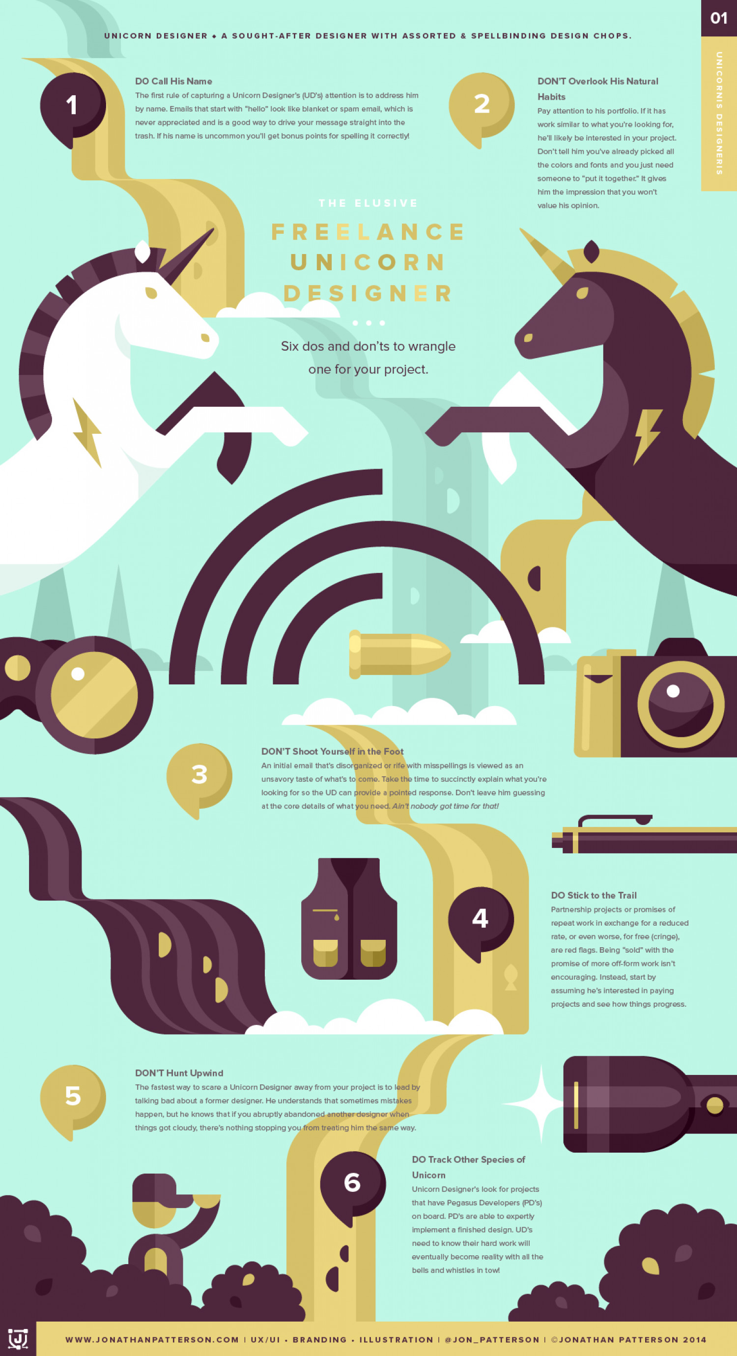 The Elusive Freelance Unicorn Designer Infographic