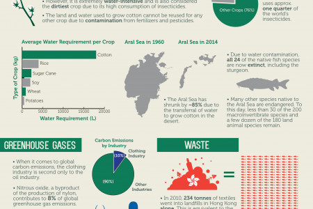 The Environmental Impacts of the Clothing Industry Infographic