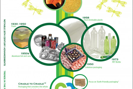 The Evolution of Food Packaging Infographic