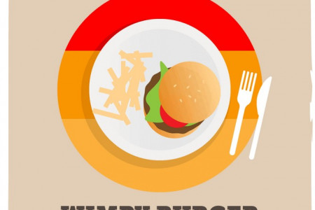 The Evolution of the Burger Infographic