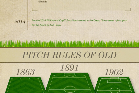 The Evolution of the Football Pitch Infographic