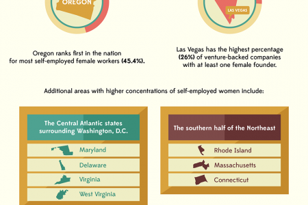 The Female Entrepreneur: Women Who Run Their World Infographic