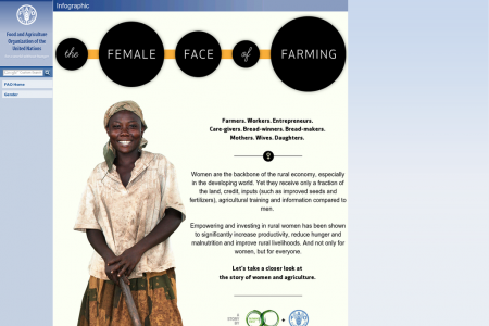 The Female Face of Farming Infographic