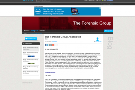 The Forensic Group Associates Infographic