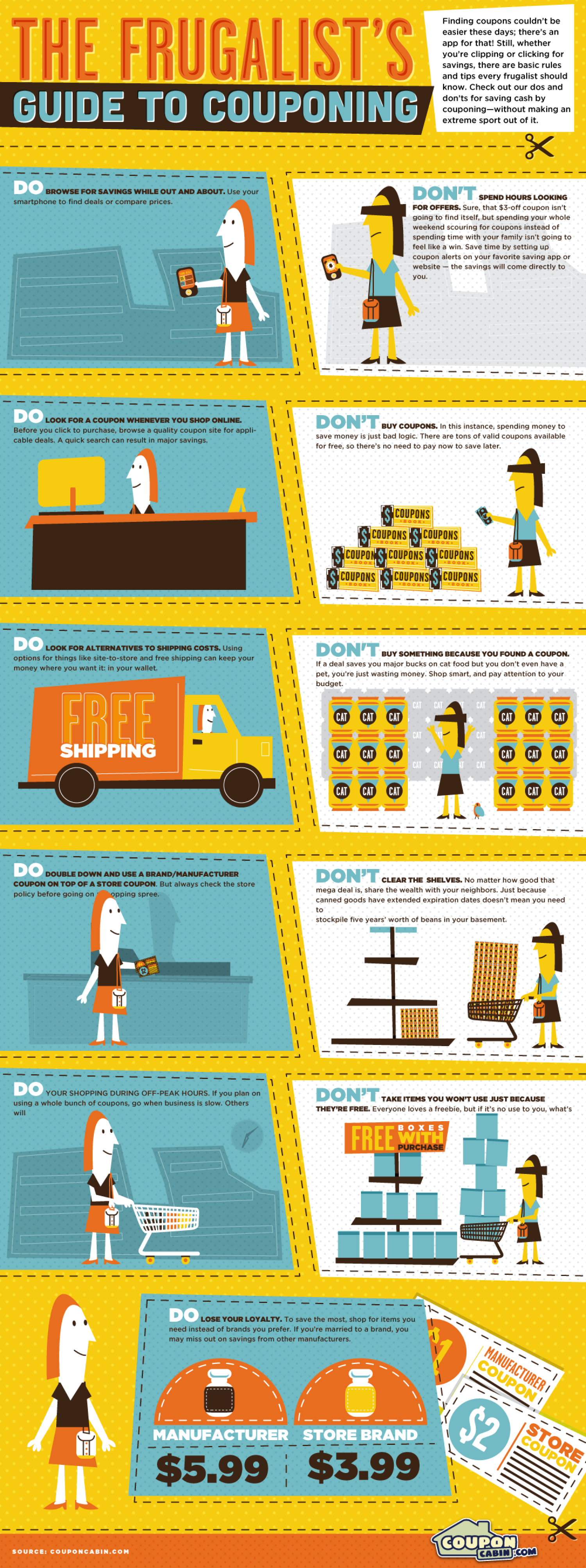 The Frugalist's Guide to Couponing Infographic