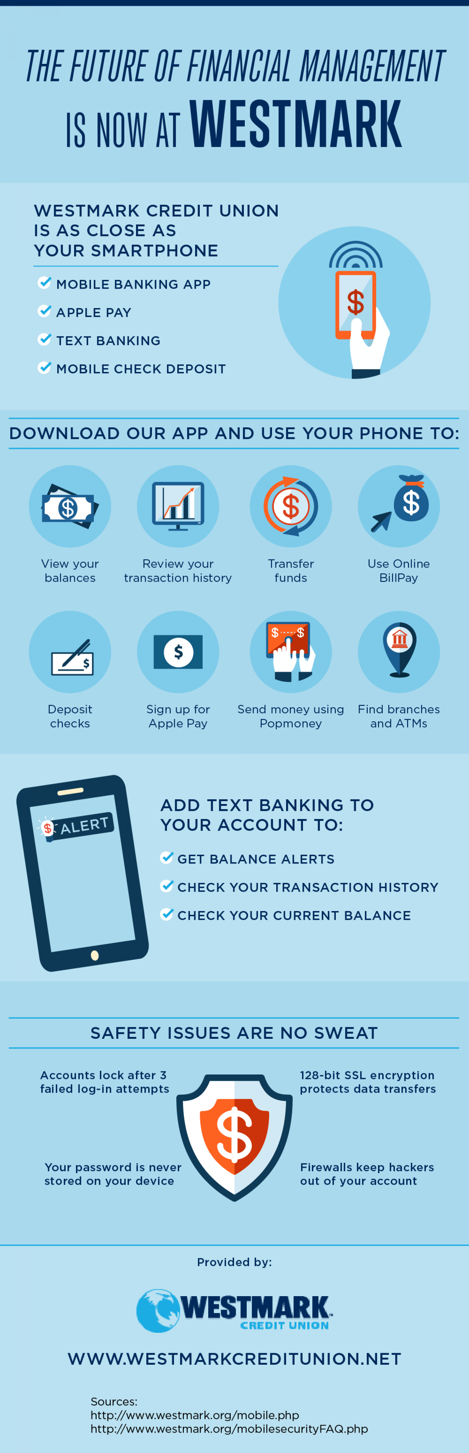 The Future of Financial Management Is Now at Westmark Infographic