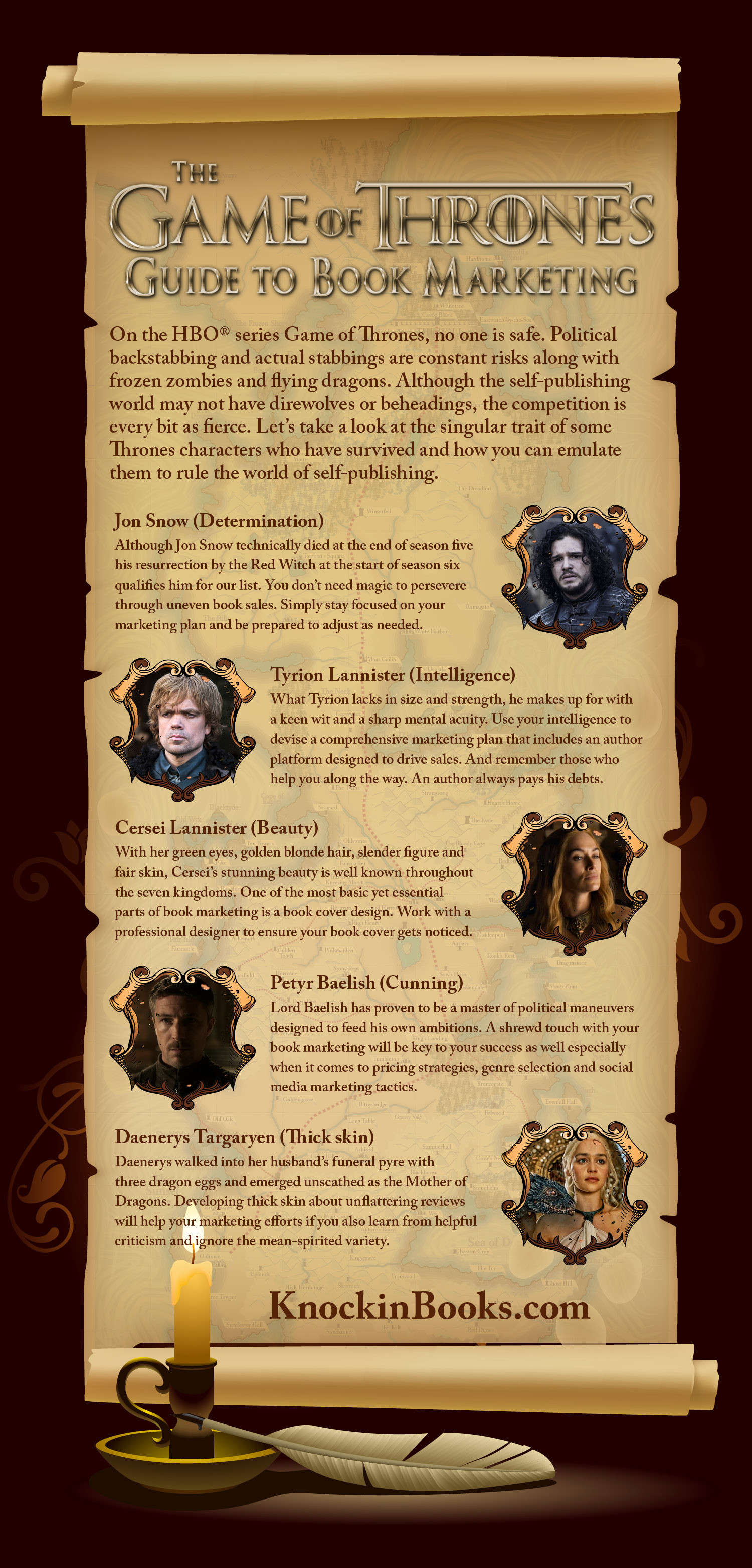 The Game of Thrones Guide to Book Marketing Infographic