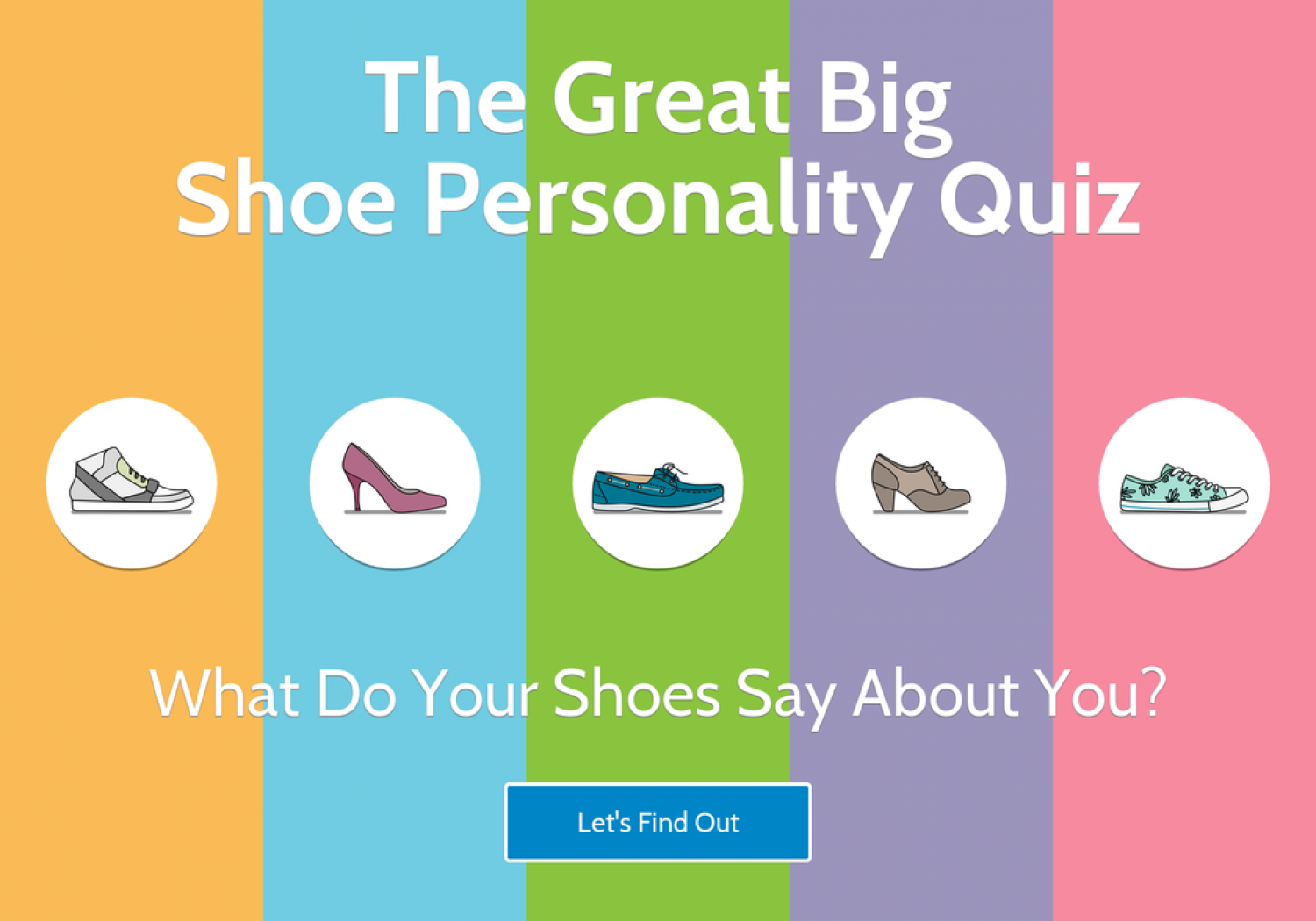 The Great Big Shoe Personality Quiz   Visual ly