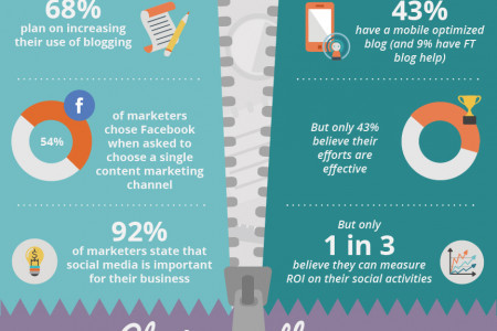 The Great Divide in Content Marketing Infographic