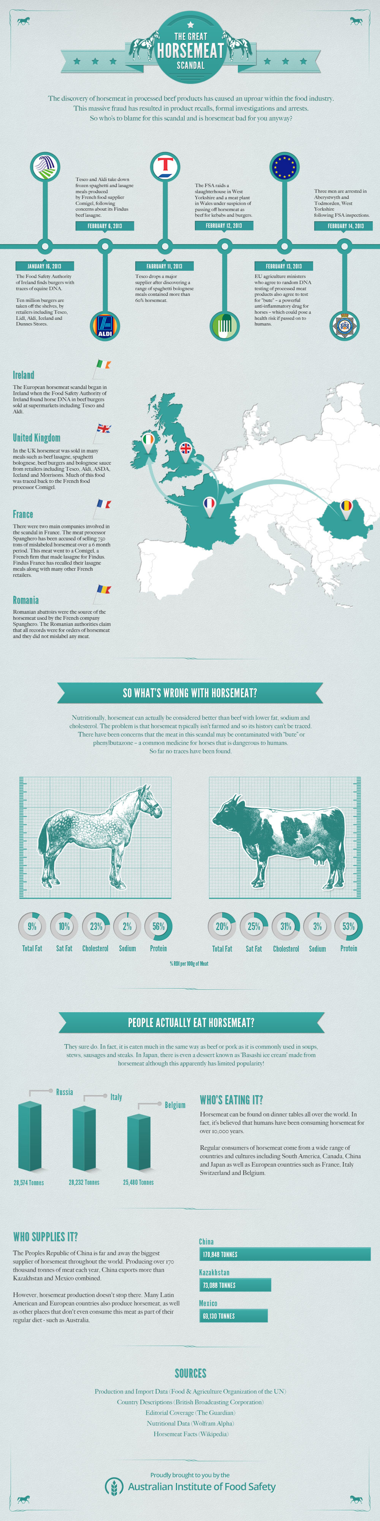 The Great Horsemeat Scandal Infographic