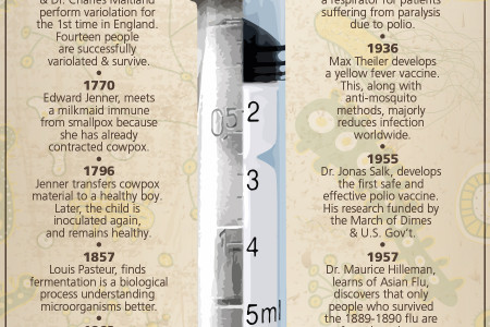 The History, Facts & Basics of Vaccines, Diseases & Pandemics Infographic