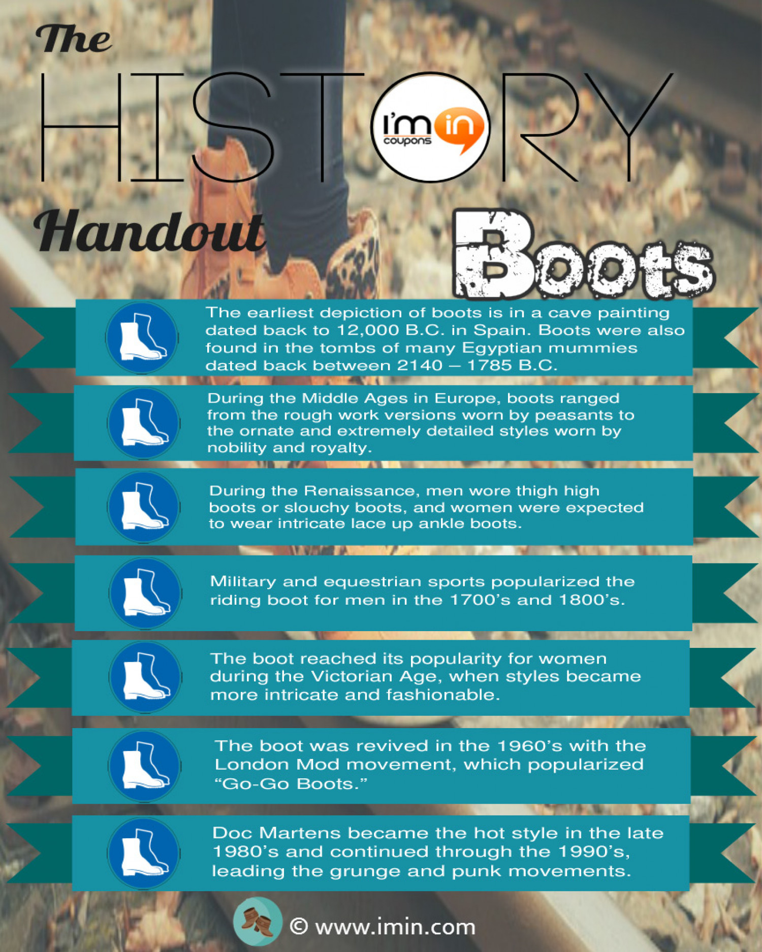 The History Handout - Boots Infographic
